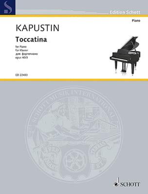 Toccatina op. 40-3 - Nikolai Kapustin - Partition - laflutedepan.com