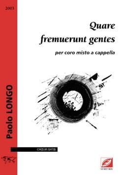 Paolo Longo - Quare fremuerunt gentes - Sheet Music - di-arezzo.com