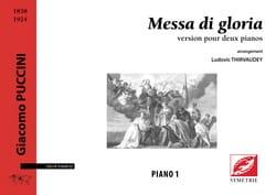 Messa di Gloria. 2 pianos - Giacomo Puccini - laflutedepan.com
