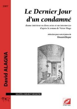 David Alagna - The last day of a convict - Sheet Music - di-arezzo.co.uk