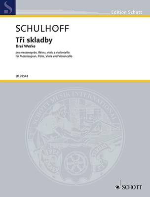 Tri skladby - Erwin Schulhoff - Partition - laflutedepan.com