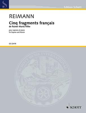 Aribert Reimann - 5 fragments français - Partition - di-arezzo.fr