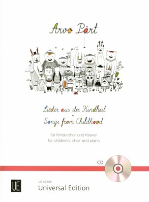 Lieder aus der Kindheit PÄRT Partition Chœur - laflutedepan
