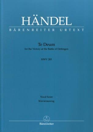 Georg-Friedrich Haendel - (Dettingen) Te Deum Hwv 283 - Partition - di-arezzo.fr