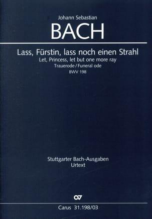 Jean-Sébastien Bach - Cantate 198. lass, Fürstin, lass noch einen Strahl - Partition - di-arezzo.fr