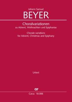 Choralvariationen - Johann Samuel Beyer - Partition - laflutedepan.com