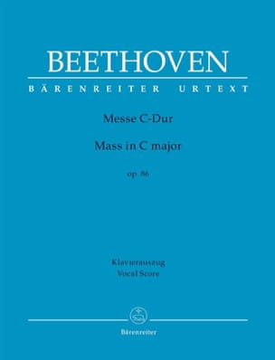 BEETHOVEN - Messe En Ut op. 86 - Partition - di-arezzo.fr