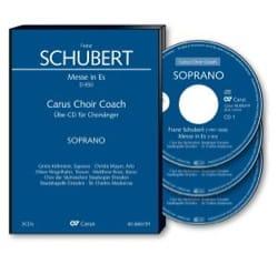 Messe En Mi bémol majeur D 950. 3 CD Basse SCHUBERT laflutedepan