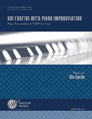 Ola Gjeilo - Ubia Caritas piano improvisation - Sheet Music - di-arezzo.co.uk