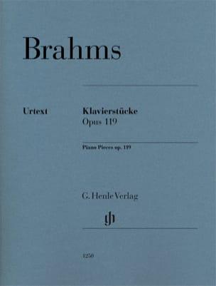 Kavierstücke op. 119 BRAHMS Partition Piano - laflutedepan