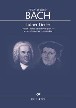 Luther-lieder - BACH - Partition - Chœur - laflutedepan.com