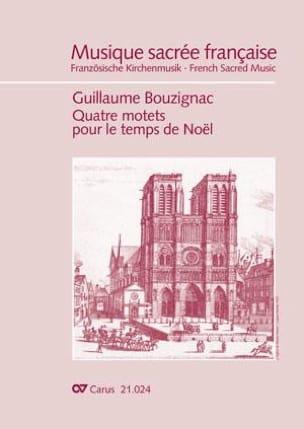 Guillaume Bouzignac - 4 motets pour le temps de Noël - Partition - di-arezzo.fr