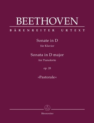 Sonate Pour Piano n° 15 Ré Majeur Opus 28 BEETHOVEN laflutedepan