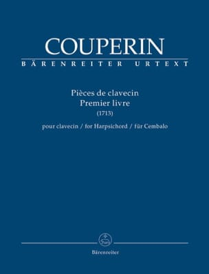 François Couperin - Pièces de Clavecin. 1er livre (1713) - Partition - di-arezzo.fr