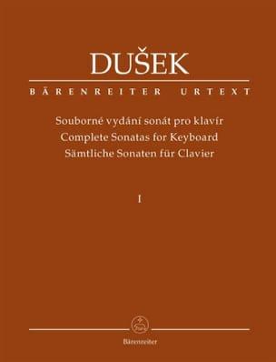 Frantisek Xaver Dussek - Sonates pour piano. Volume 1 - Partition - di-arezzo.fr