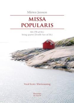 Missa Popularis Marten Jansson Partition Chœur - laflutedepan