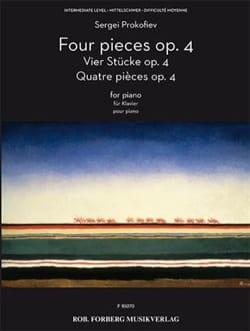 Sergei Prokofiev - 4 piezas - Opus 4 - Partitura - di-arezzo.es