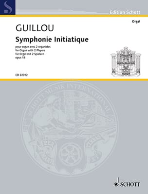 Jean Guillou - Symphonie initiatique op. 18 - Partition - di-arezzo.fr