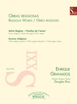 Oeuvres religieuses - Enrique Granados - Partition - laflutedepan.com