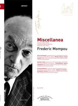 Federico Mompou - miscellanea - Sheet Music - di-arezzo.com