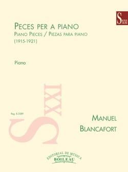 Pièces pour piano Manuel Blancafort Partition Piano - laflutedepan