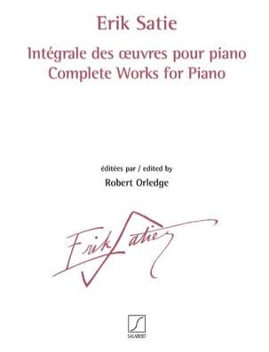 Intégrale des oeuvres pour piano complet SATIE Partition laflutedepan