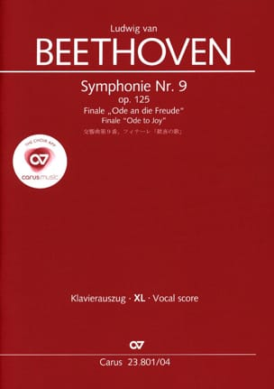 An die Freude (grand format) - Ludwig van Beethoven - laflutedepan.com