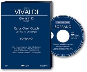 Gloria RV 589. CD. Alto VIVALDI Partition Chœur - laflutedepan