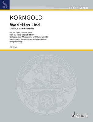KORNGOLD - Mariettas Lied op. 12 - Sheet Music - di-arezzo.co.uk