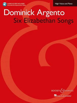 Dominick Argento - 6 Elizabethan Songs - Partition - di-arezzo.fr