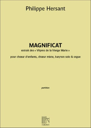 Philippe Hersant - Magnificat - Sheet Music - di-arezzo.co.uk
