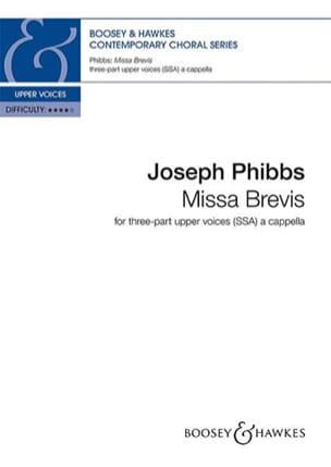 Missa brevis - Joseph Phibbs - Partition - Chœur - laflutedepan.com