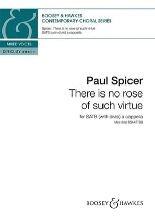 Paul Spicer - There is no rose of such virtue - Partition - di-arezzo.fr