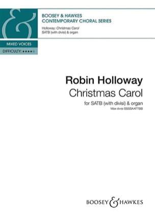 Robin Holloway - Christmas Carol - Partition - di-arezzo.fr