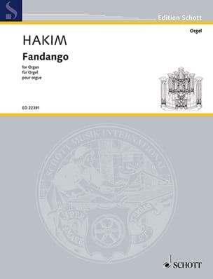 Fandango - Naji Hakim - Partition - Orgue - laflutedepan.com