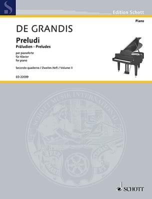 Preludes. Volume 2 Grandis Renato De Partition Piano - laflutedepan