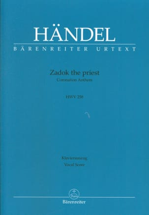 HAENDEL - Zadok The Priest - Sheet Music - di-arezzo.co.uk