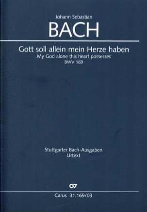 BACH - Cantate 169 Gott soll allein mein Herze haben - Sheet Music - di-arezzo.co.uk