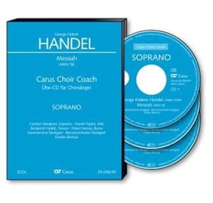 Messiah Hwv 56. 3 CD Soprano CHOEUR HAENDEL Partition laflutedepan