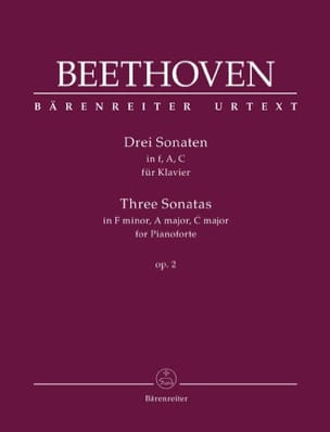3 Sonates Pour Piano Opus 2 BEETHOVEN Partition Piano - laflutedepan