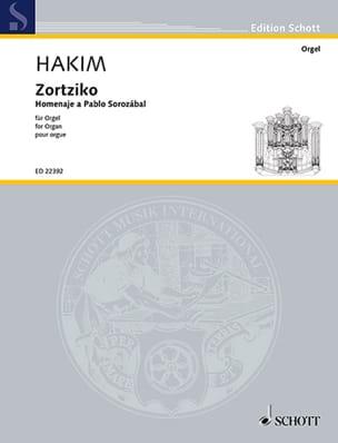 Naji Hakim - Zortiko - Partition - di-arezzo.fr