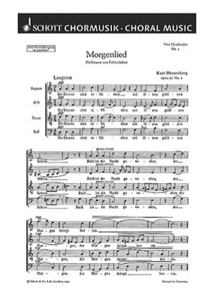 Kurt Hessenberg - Morgenlied - Partition - di-arezzo.fr