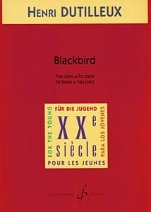 Blackbird DUTILLEUX Partition Piano - laflutedepan