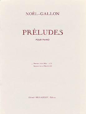 Préludes Volume 2 - Noël-Gallon - Partition - Piano - laflutedepan.com