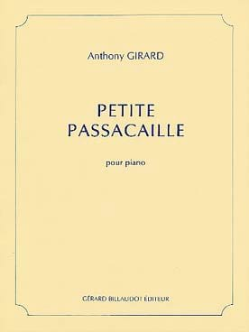 Anthony Girard - Petite Passacaille - Partition - di-arezzo.fr