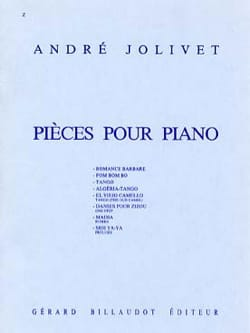 André Jolivet - Pieces For Piano - Sheet Music - di-arezzo.com
