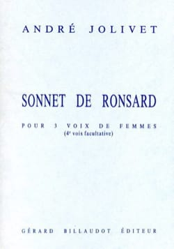 André Jolivet - Sonnet of Ronsard - Sheet Music - di-arezzo.co.uk