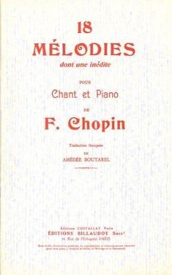 18 Mélodies CHOPIN Partition Mélodies - laflutedepan