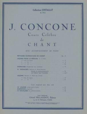 J. Concone - 15 Vocalises Opus 12 Soprano Ou Mezzo - Partition - di-arezzo.fr