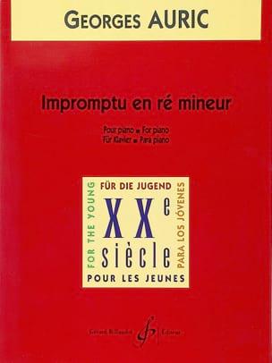 Impromptu En Ré Mineur - Georges Auric - Partition - laflutedepan.com